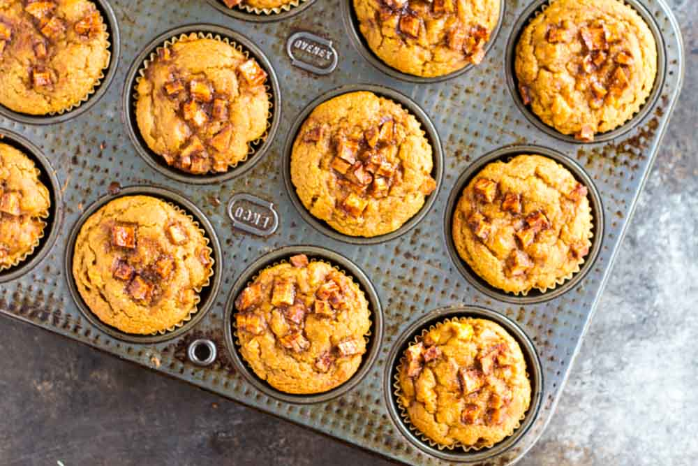 twelve muffins in a muffin pan