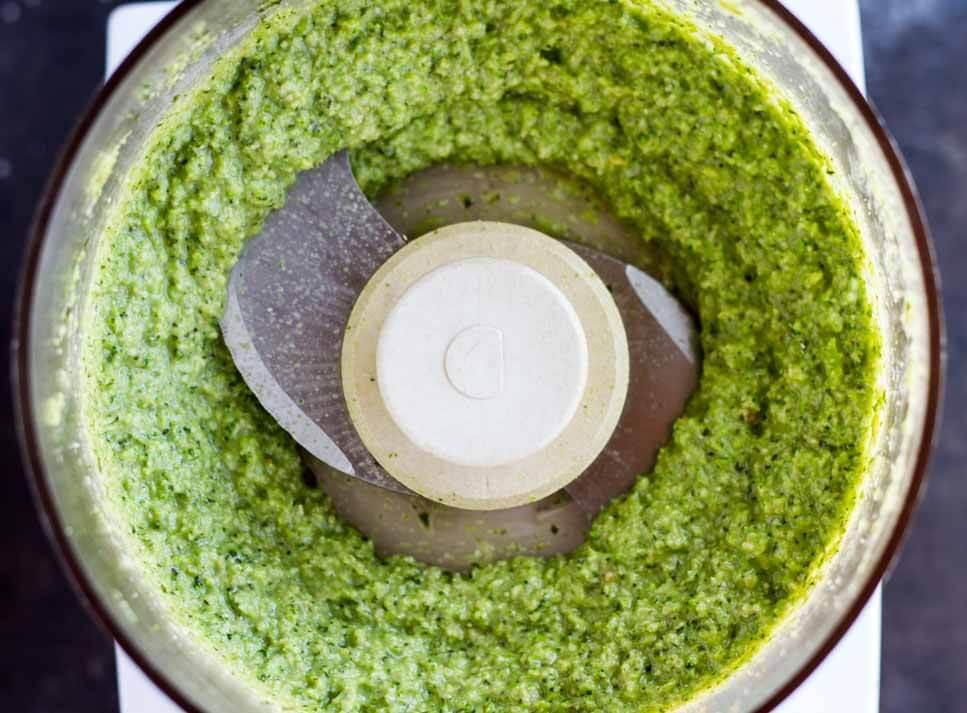 Broccoli Pesto (dairy free) /// www.savorylotus.com
