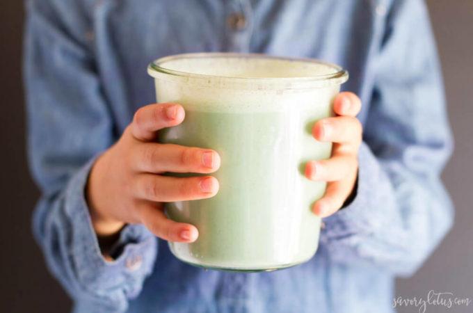 How to Make Green Milk (dairy free) | www.savorylotus.com