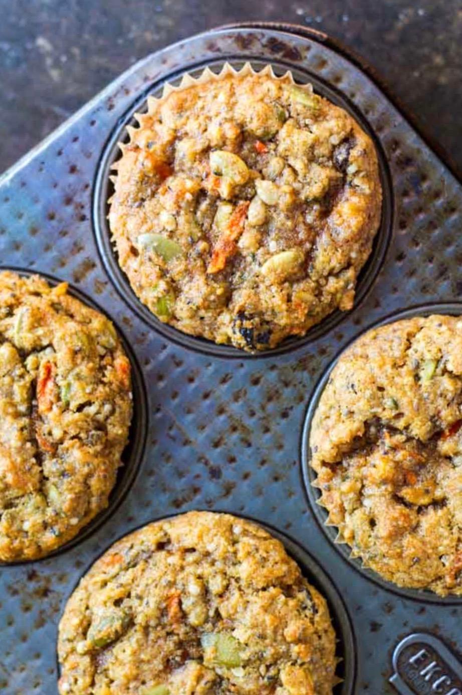close up of muffin in a muffin tin