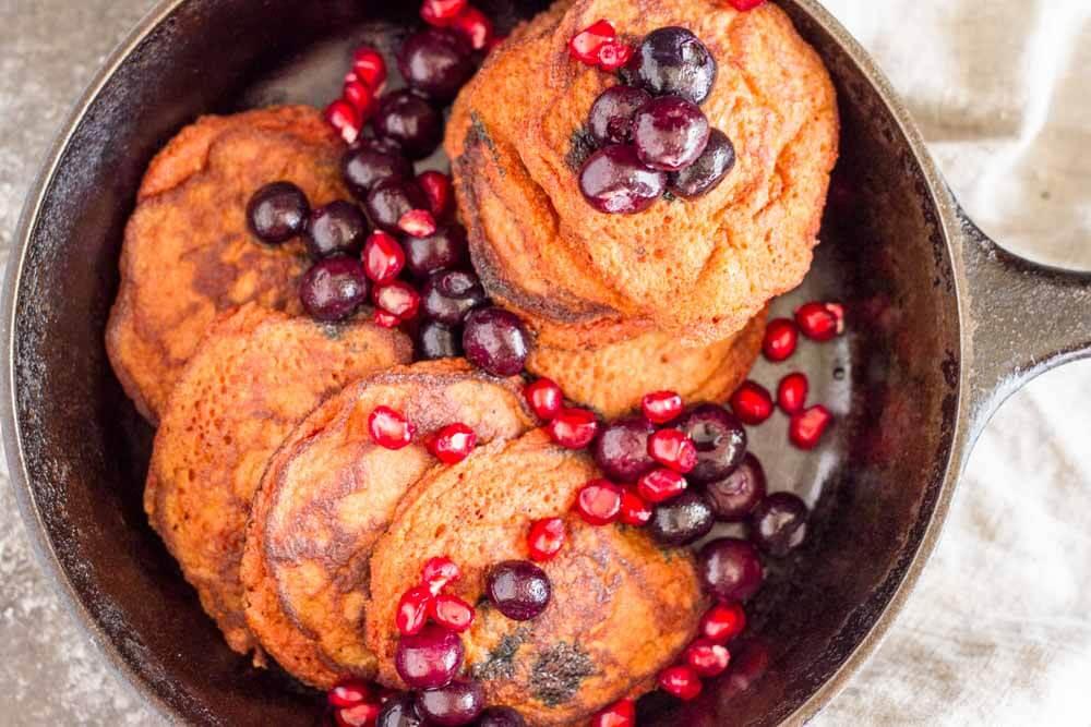 Turmeric Spice Pancakes (gluten free and nut free) | www.savorylotus.com