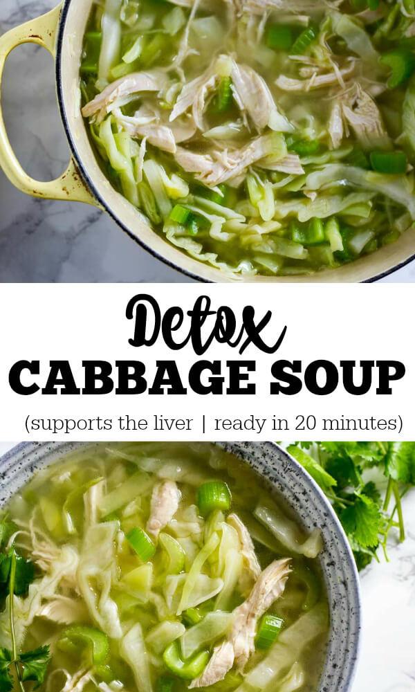 Detox Cabbage Soup - www.savorylotus.com