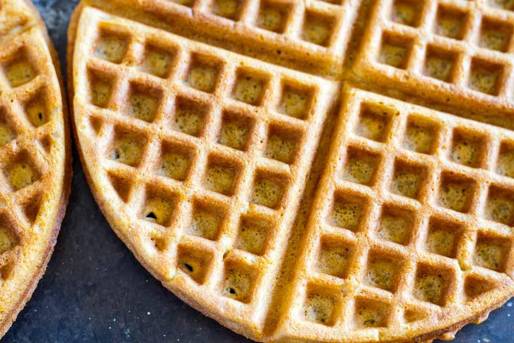 close up of gluten free waffle