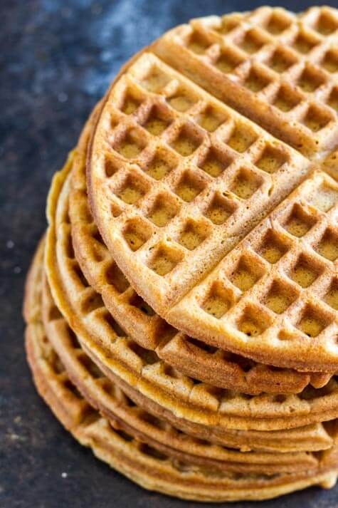stack of gluten free waffles