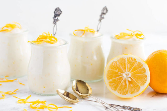 Meyer Lemon Pudding (dairy free)