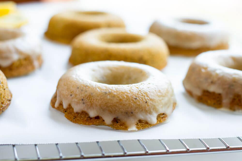 Lemon Poppy Seed Donuts (gluten free, paleo, grain free) ----- www.savorylotus.com