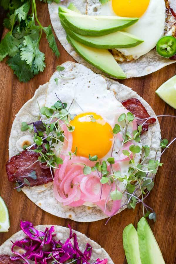 Fried Egg Breakfast Tacos (gluten free and paleo) \\\\ www.savorylotus.com