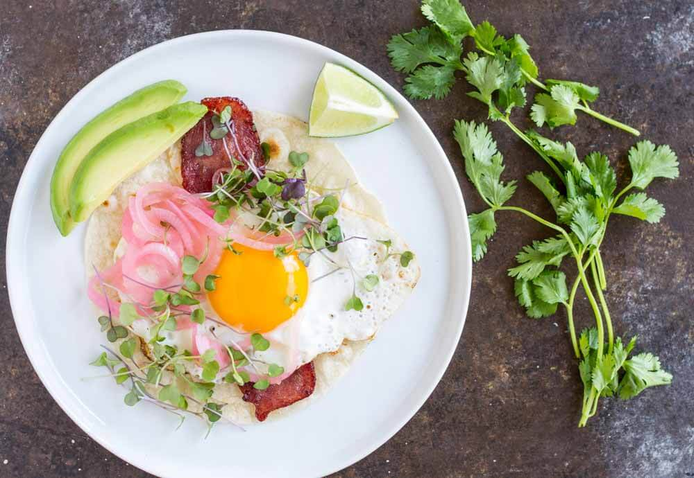 Fried Egg Breakfast Tacos (gluten free and paleo) ~~~~ www.savorylotus.com