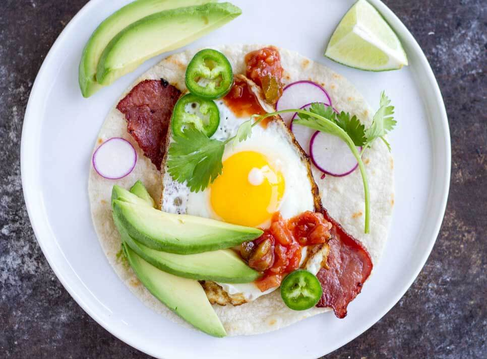 Fried Egg Breakfast Tacos (gluten free and paleo) ~~ www.savorylotus.com