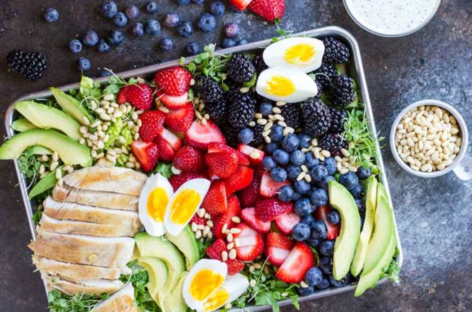 Berry Avocado Chicken Salad with Creamy Poppyseed Dressing