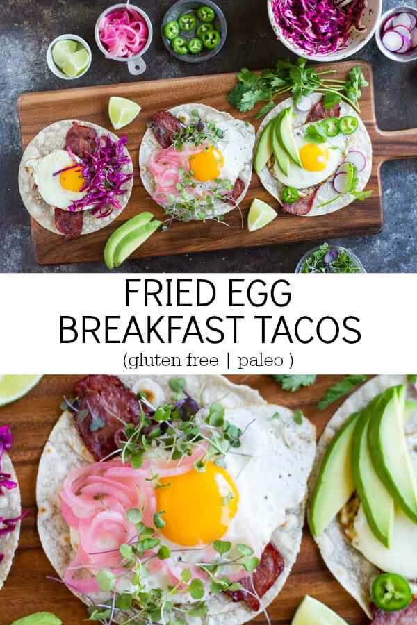 Fried Egg Breakfast Tacos (gluten free and paleo) - www.savorylotus.com