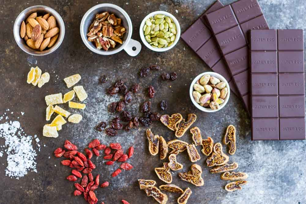 Trail Mix Dark Chocolate Snacks \\\ www.savorylotus.com