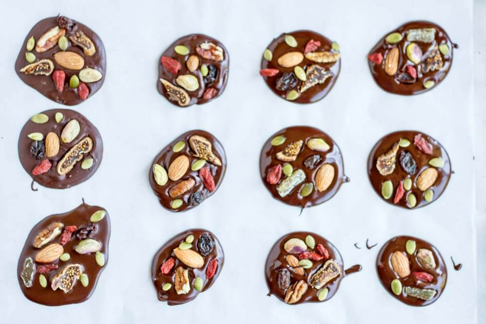 Trail Mix Dark Chocolate Snacks ~~ www.savorylotus.com