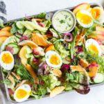 Smoked Trout Salad with Creamy Lemon Dill Dressing \ www.savorylotus.com