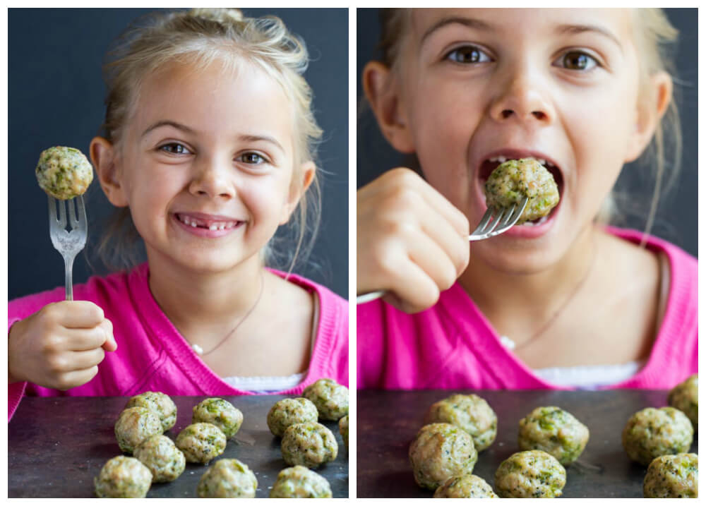 Easy Broccoli Chicken Meatballs (gluten free, paleo) ~ www.savorylotus.com