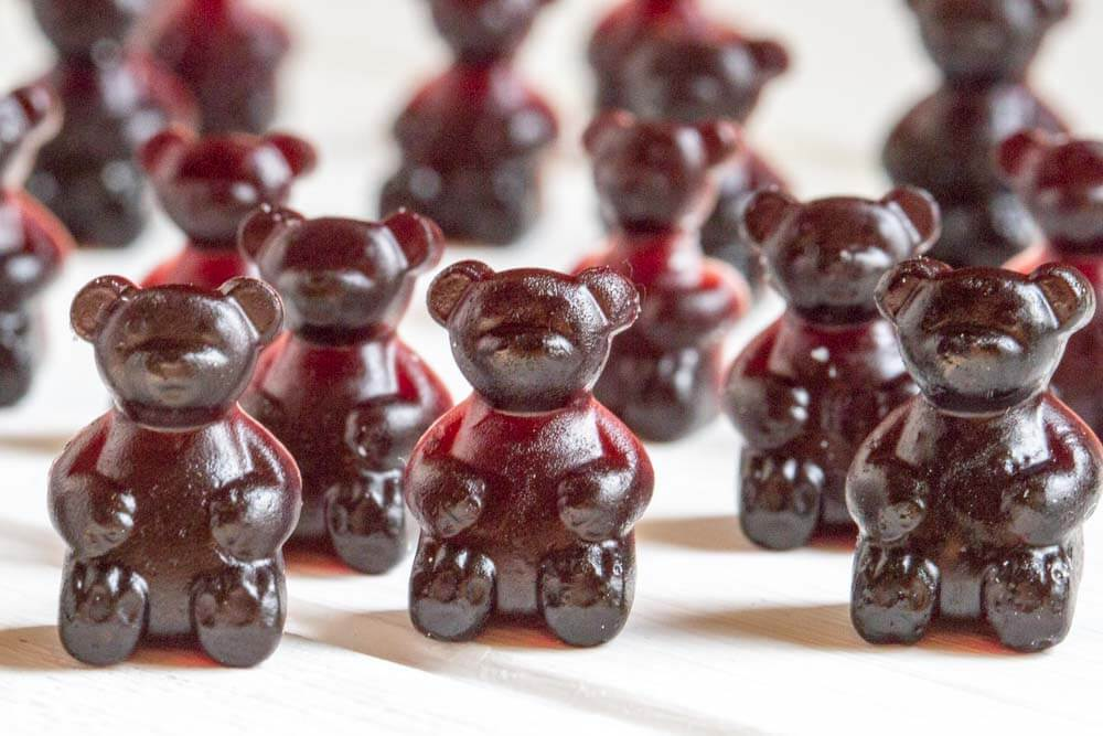 close up of Elderberry Gummy Bears
