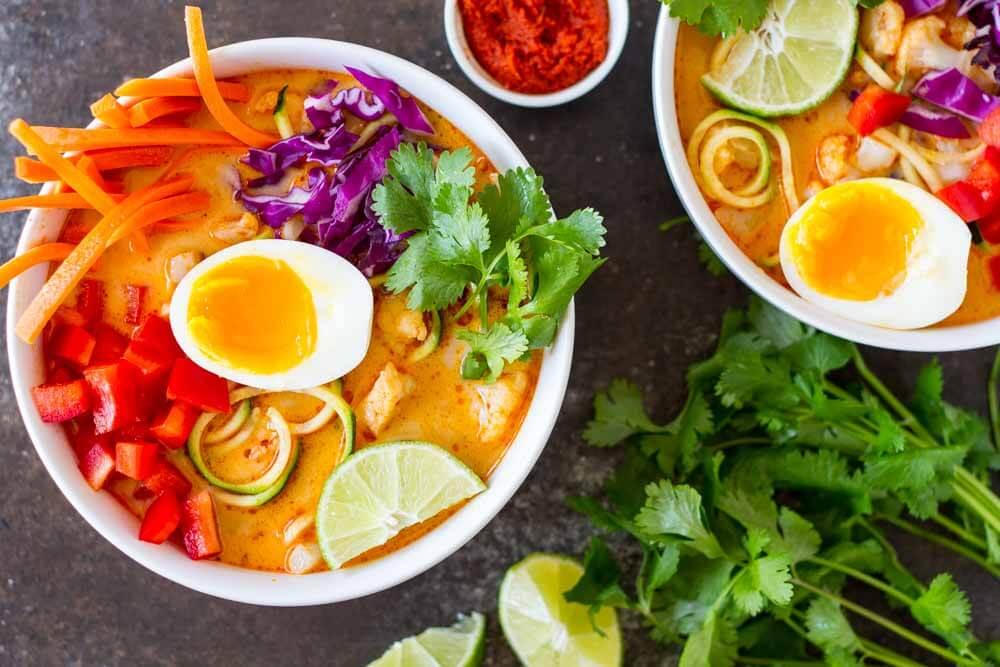 Thai Red Curry Coconut Soup \\ www.savorylotus.com