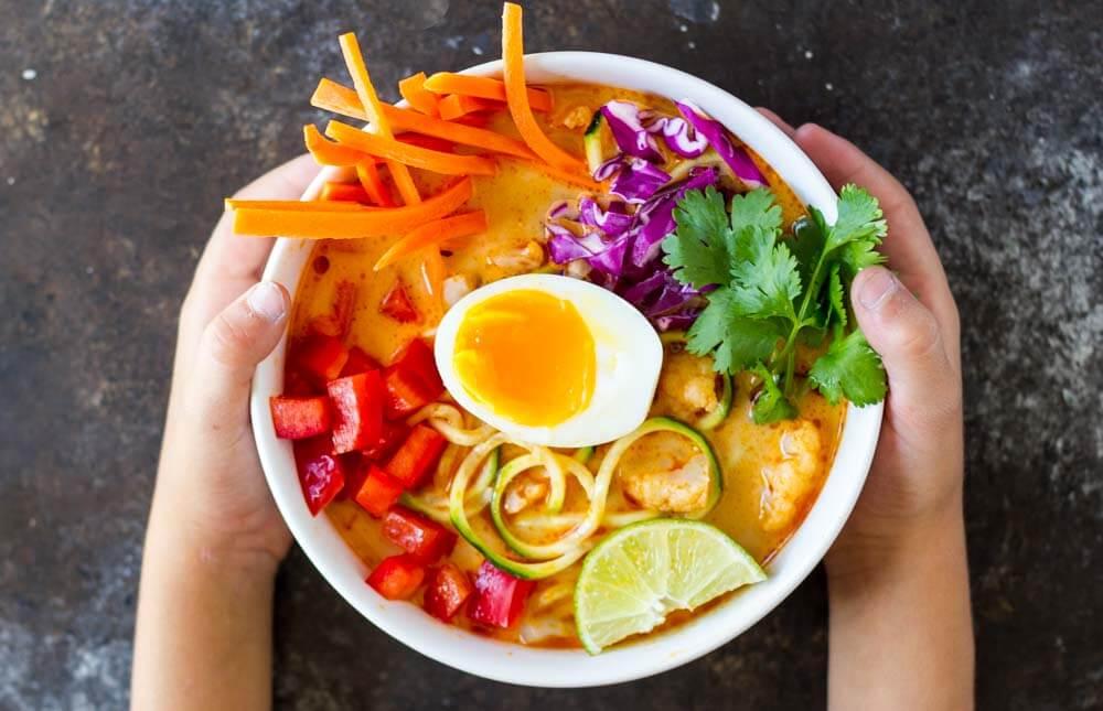 Thai Red Curry Coconut Soup \\\ www.savorylotus.com