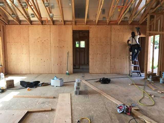 interior of house build