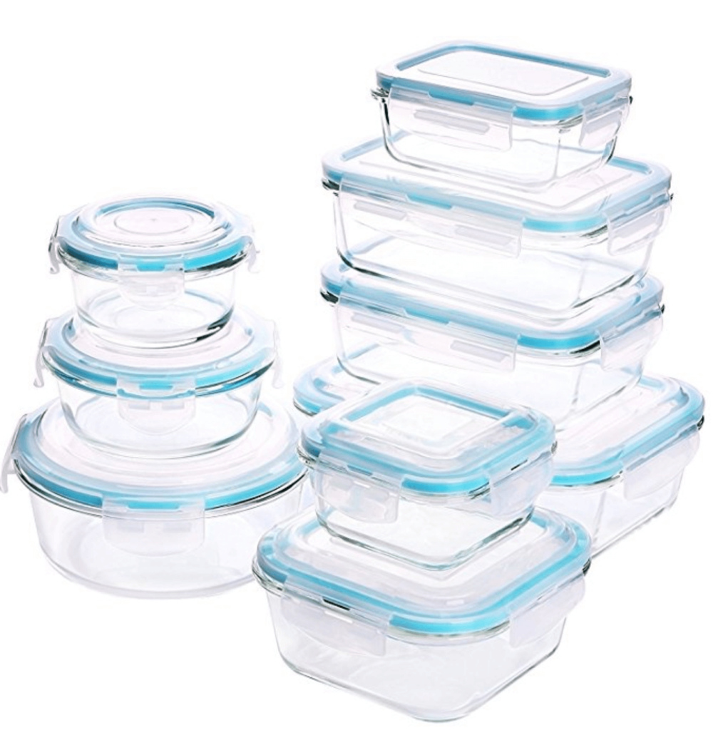 Ways to Use Less Plastic in the Kitchen (glass storage containers)