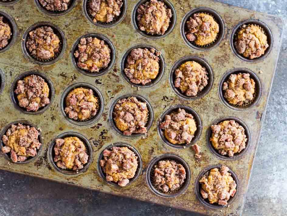 Mini Pumpkin Muffins (gluten free and paleo) ~ www.savorylotus.com