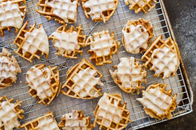 Mini Apple Fritter Waffles (gluten free and paleo)