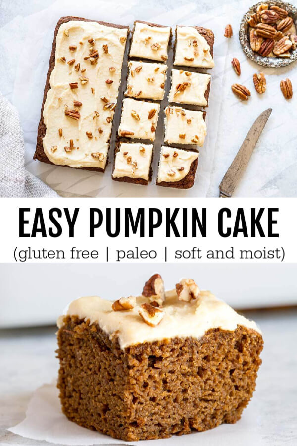 Pumpkin Cake  with frosting and nuts on top