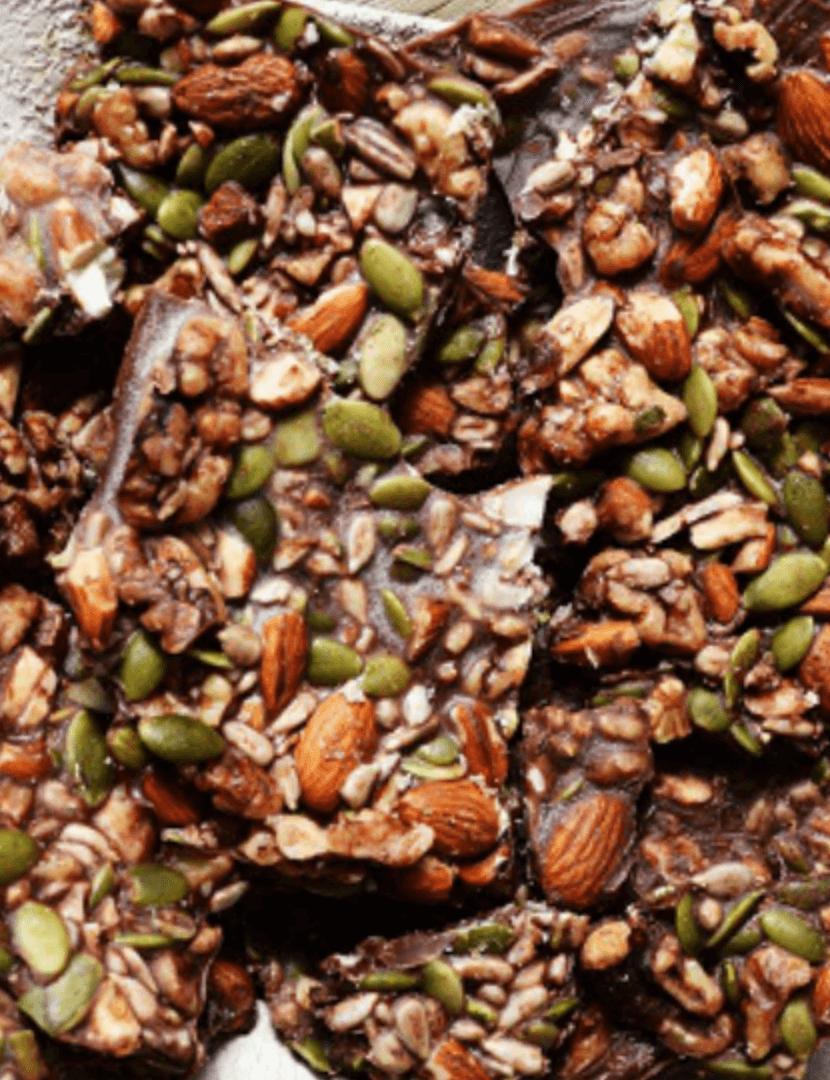 20 Healthy Edible Gift Ideas | chocolate coconut oil bars