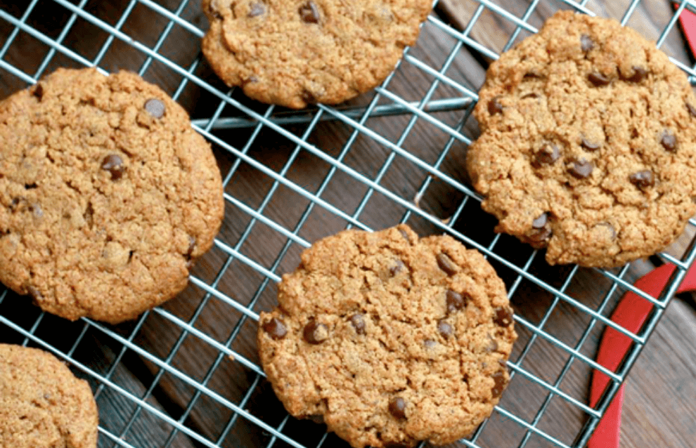 20 Healthy Edible Gift Idea   salted flourless peppermint chocolate chip cookies