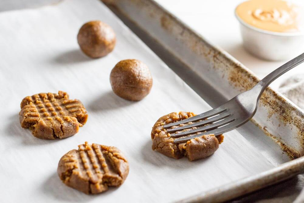 unbaked Flourless peanut Butter Cookies