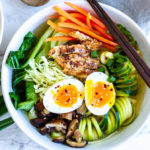 Whole30 Ramen Bowl (healthy, gluten free, paleo ) | www.savorylotus.com