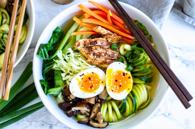 Whole30 Ramen Bowl (and how to make dashi)