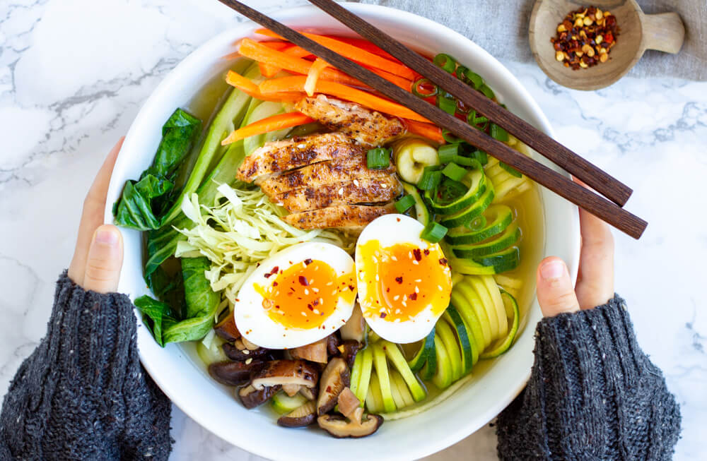 Whole30 Ramen Bowl held by two hands