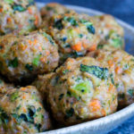 Loaded Veggie Turkey Meatballs )gluten free, paleo, whole30) \ www.savorylotus.com