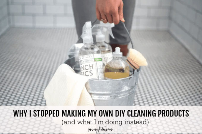 Why I Stopped Making My Own DIY Cleaning Products (and what I'm doing instead) - www.savorylotus.com
