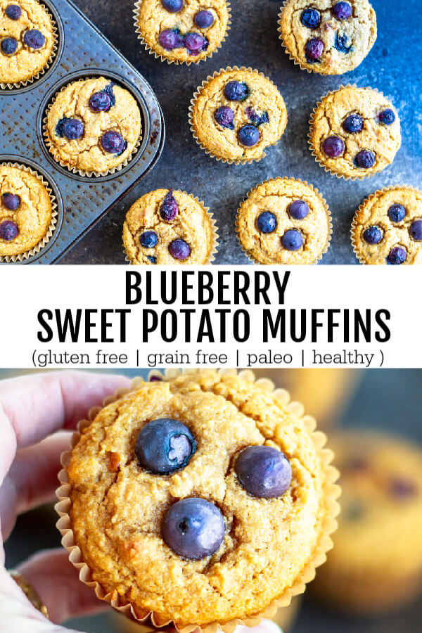 Blueberry Sweet Potato Muffins (gluten free, grain free, and paleo) - www.savorylotus.com