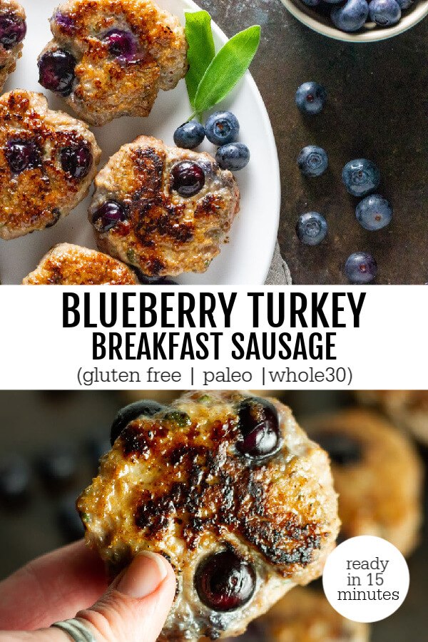 Blueberry Turkey Breakfast Sausage (gluten free, paleo, whole30) - www.savorylotus.com