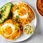 Butternut Squash Noodle Nests and Eggs | www.savorylotus.com