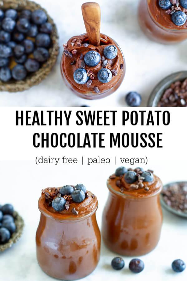 Healthy Sweet Potato Mousse (dairy free, paleo, and vegan) - www.savorylotus.com