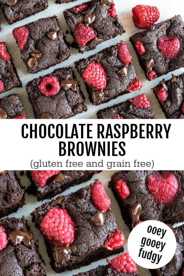 Chocolate Raspberry Brownies cut into squares