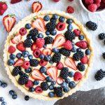 Fruit Tart with Vanilla Cream (gluten free, dairy free, paleo) ~ www.savorylotus.com