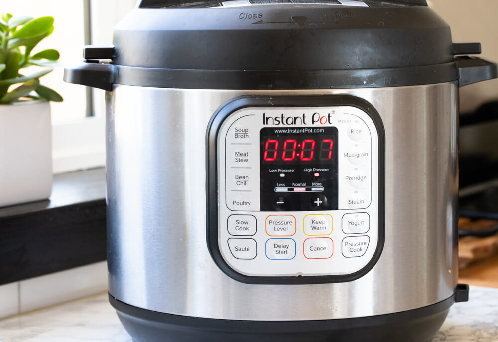 instant pot on counter