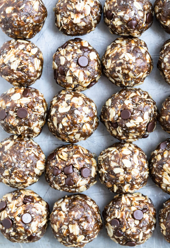 close up of gingerbread energy balls