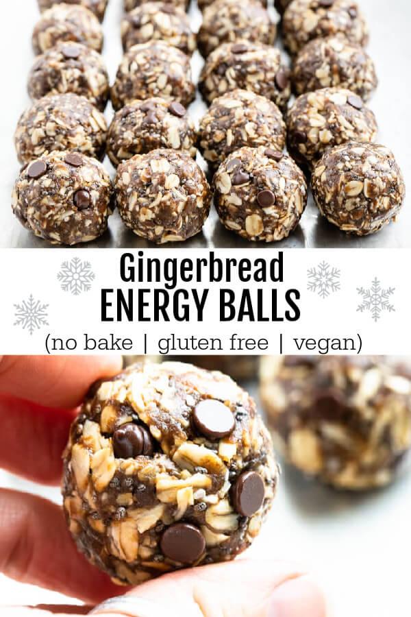 gingerbread energy balls on baking sheet