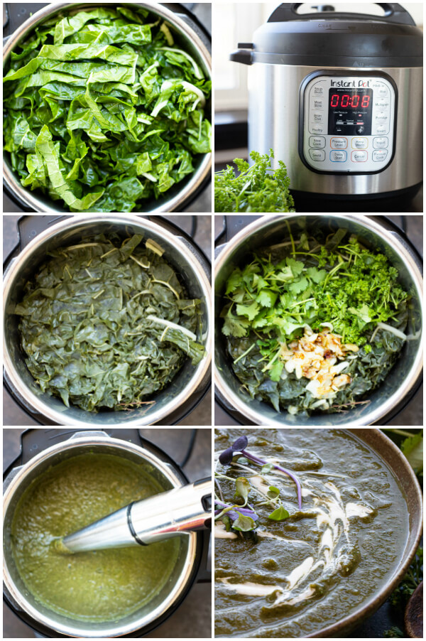 photo directions on how to make instant pot detox green soup