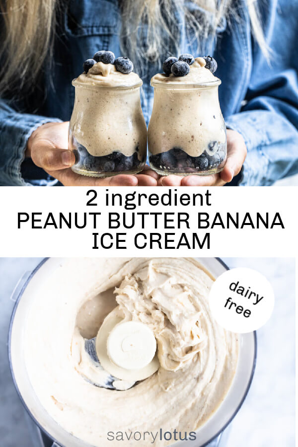 peanut butter banana ice cream in a food processor
