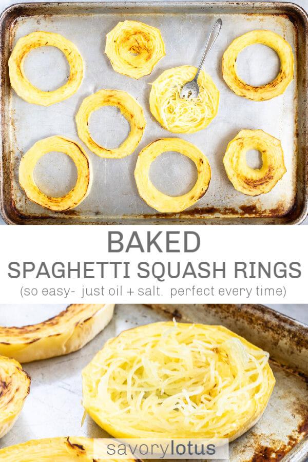 spaghetti squash sliced into rings