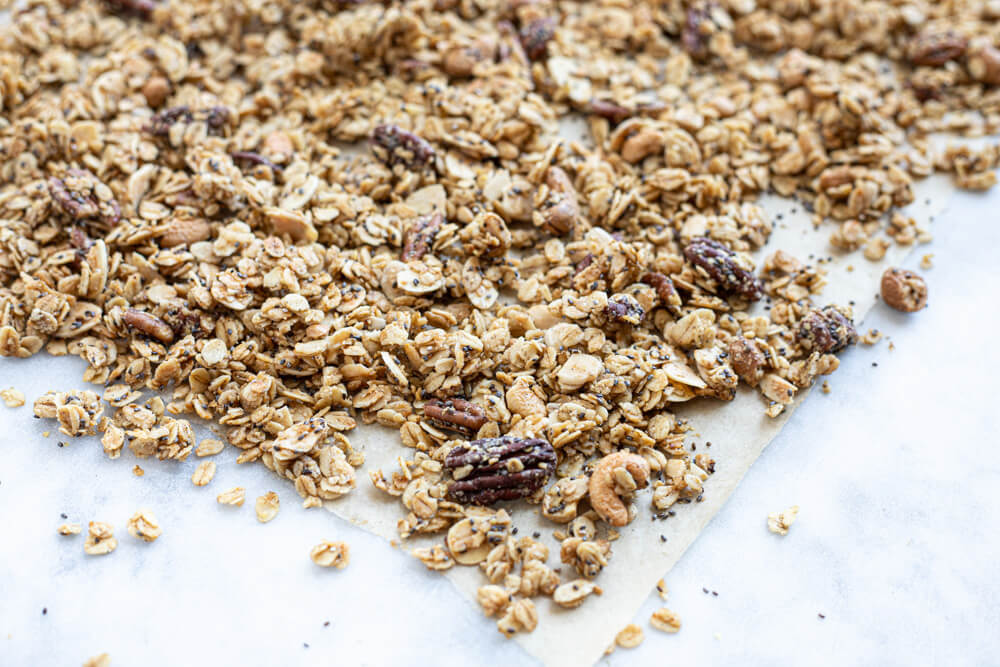 close up of gluten free granola
