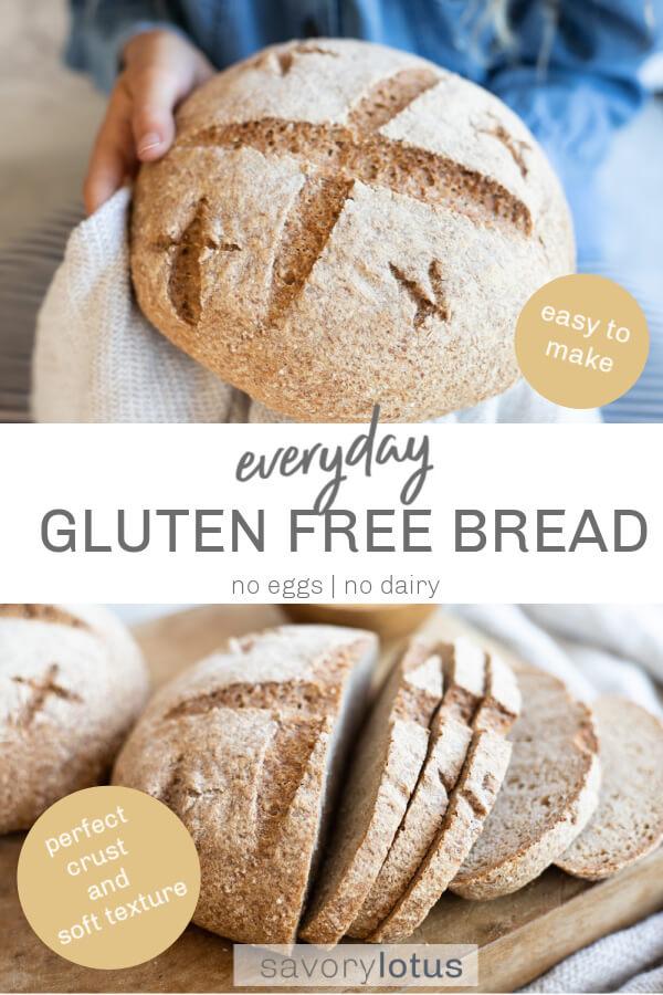 gluten free bread loaf in white towel