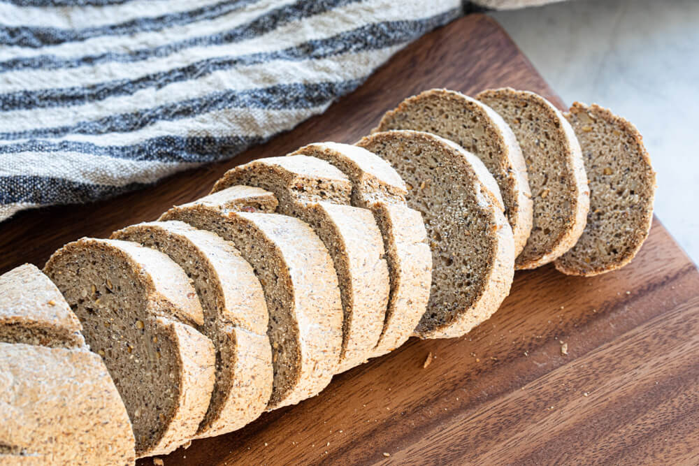 gluten free baguette sliced